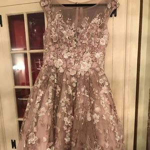 Basix Black Label Mauve Evening Gown Prom Dress